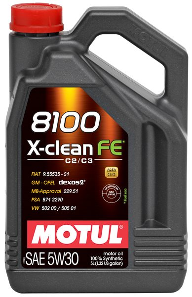 АКЦИЯ! Motul 8100 X-clean FE 5W-30 (SN/C3) 5л по цене 4л